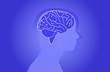 Blue Vector Background Violett Brain Humen
