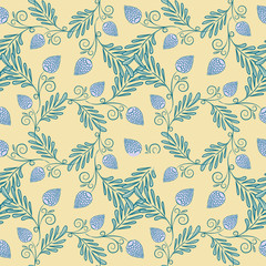 Floral seamless pattern. Vector EPS 8 illustration