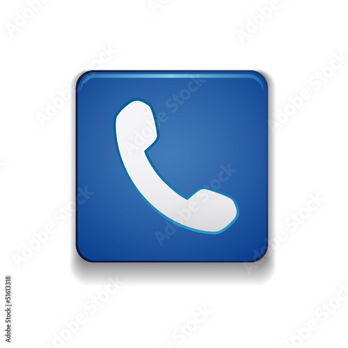 Phone icon button vector