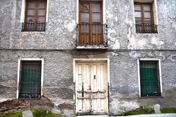 Puertollano, arquitectura popular, casa deteriorada