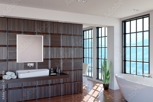 Modern Bathroom, Scenic View