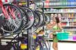 woman buys a bike shop