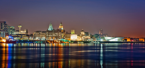 Colourful Liverpool Skyline
