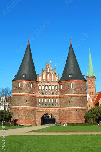 Lübecker Holstentor Hochformat