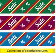 Sale seamless vector texture with percent discount