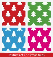 Seamless christmas vector texture. Christmas tree.