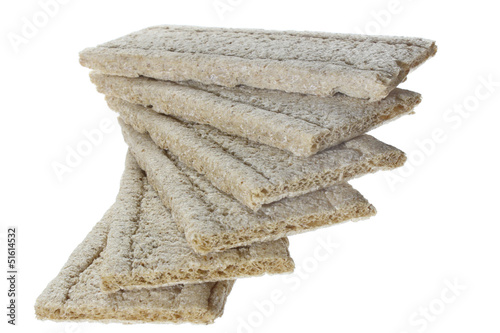 Crisp bread isolated on a white background