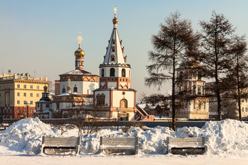 Orthodox churches. Russia, Siberia, Irkutsk.