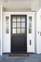 Front door of an upscale home