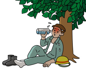 熱中症注意屋外作業の場合の対処