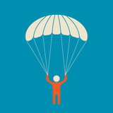 Skydiver - serene and safe parachuting