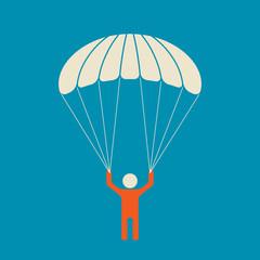 Skydiver - serene and safe parachuting