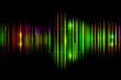 Dark abstract shiny technology spectrum background.