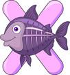 Alphabet Y with X ray fish