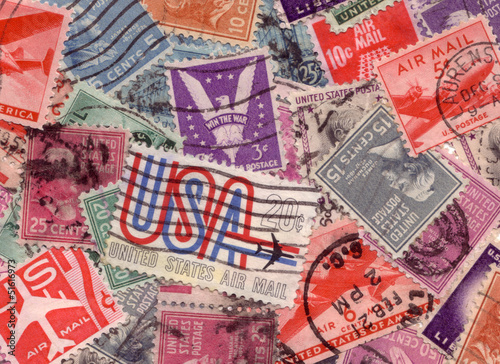 USA postage stamps from the 60's