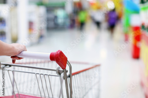 Shopping trolley in motion