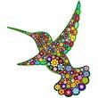 Hummingbird Floral Ornamental Art Design-Colibri Arte Floreale