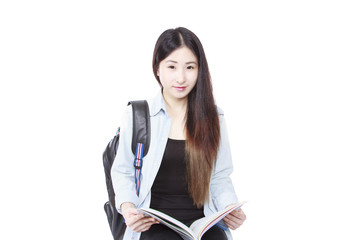 Cute young student girl