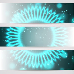Flower space background banners