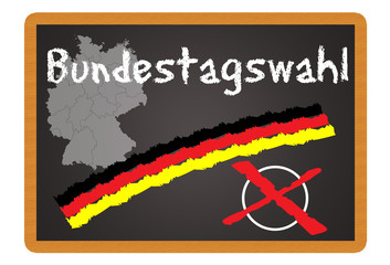 Schild - Bundestagswahl