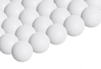 Golf balls isolated on white background