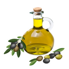 Оlive oil and olive branch