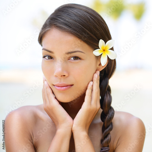 Spa resort beauty portrait of woman