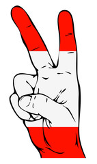 Peace Sign of the Austrian flag