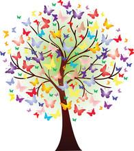 Grafika piękna wiosna, składający się z motylami