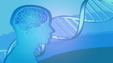 Background Wallpaper DNA Man Brain Vector
