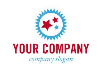 Logo mit drei Sternen - Konzept Einzigartigkeit