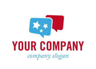 Logo mit Sprechblase - Konzept Dialog