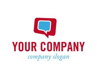 Logo mit Sprechblasen - Konzept Dialog