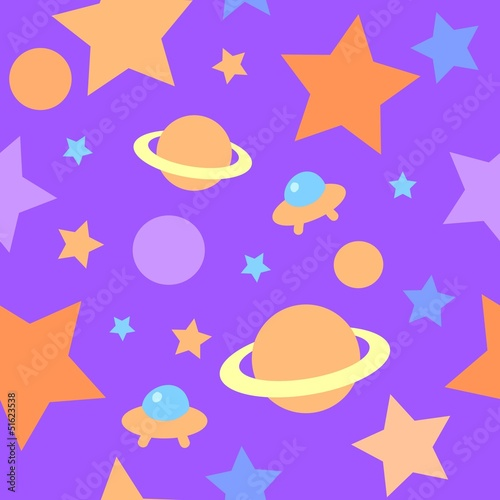 Pattern stars Vector illustration