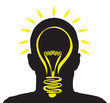 a man with a lightbulb idea
