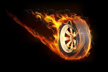 Fiery Tyre