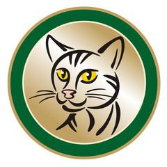 Symbol Cat Medal