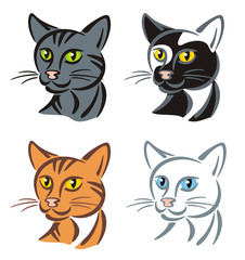 Symbol Cat various colored