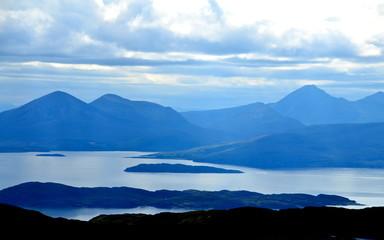 View from Applecross peninsula looking towards Skye & Raasay