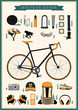 set of cycling gear, can be used as infographic elements