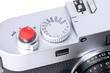 Close up of rangefinder camera
