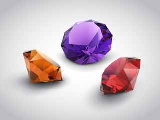 A beautiful gems (vector objects)