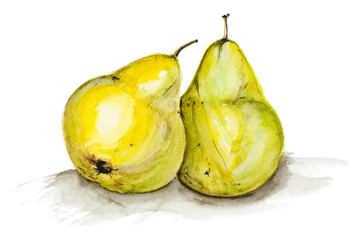 Yellow  big pears