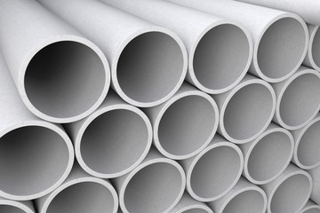 Asbestos cement pipes.