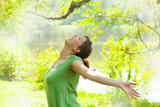 Fototapety free happy young woman in the sping time