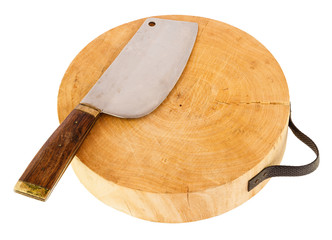 Chopping block isolated on white background