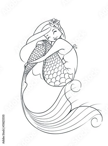 mermaid fairy-tale character