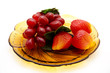 Weintrauben mit Erdbeeren