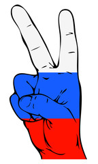 Peace Sign of the Russian flag