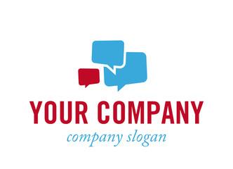 Logo mit Sprechblasen - Konzept Kommunikation